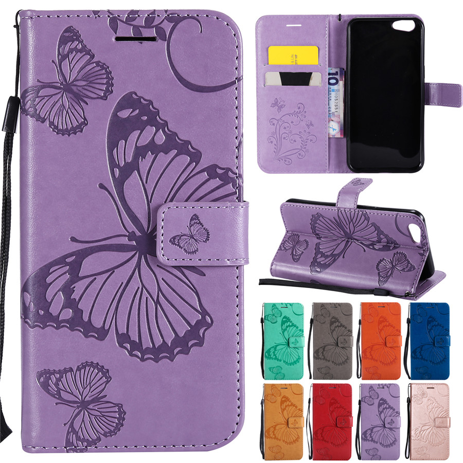 A57 Case Coque on for <font><b>OPPO</b></font> A57 A59 A83 A73 <font><b>Covers</b></font> for Fundas <font><b>OPPO</b></font> F7 R11S <font><b>F9</b></font> R17 A1K Case capa Leather <font><b>Flip</b></font> Butterfly Phone Case image