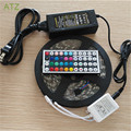 Waterproof 12V 5050 LED Strip Light 60LEDs/M 5m/roll +12V Power Adapter,only RGB with 44Keys Controller,Free Shipping