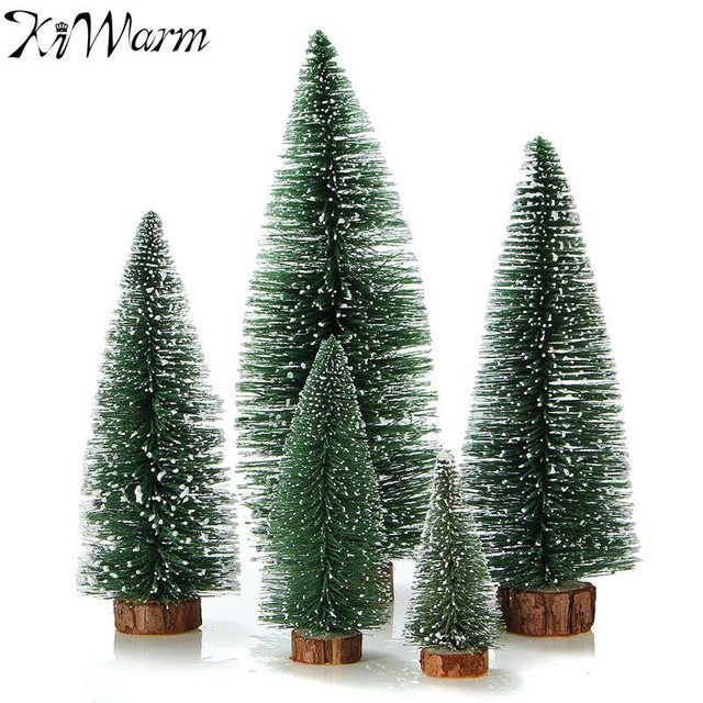 1pcs Mini Christmas Tree Small Pine Ornaments Figurines Miniatures Decorations Home Office Diy Decoration