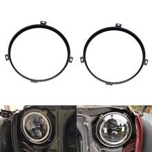7-дюймовый автомобильный передний головной свет лампы установить Поддержка кронштейны металлическая внешняя часть держатель для Jeep Wrangler 2007 до стайлинга автомобилей