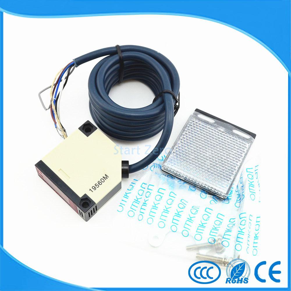 photoelectric switch 4M  E3JK-R4M1 Retroreflective photoelectric sensor AC90-250V  18*50*50 photoelectric switch sensor square reflex light barrier sensor photoelectric switch ac 90 250v mayitr