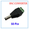 50pcs/lot  DC Power Plug BNC Connector DC Male Adapter For CCTV IP Camera Power Supply Surveillance Accessories