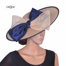 Дизайн бежевый/темно X большая блюдце hatinator Sinamay База чародей Свадебная шляпка с большим бантом для Кентукки Дерби, гонки