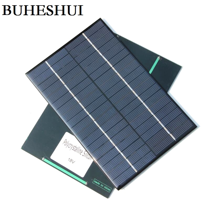 BUHESHUI 18V 4.2W Solar Panel Mini <font><b>Sola</b></font> rCell Module DIY Solar Charger System For 12v <font><b>Battery</b></font> 200*130*3MM 2pcs/lot Free Shipping image
