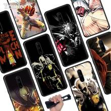 One Punch Man Anime Black Soft Case for Oneplus 7 Pro 7 6T 6 Silicone TPU Phone Cases Cover Coque Shell