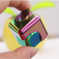 Metal Fidget Cube Spinner Two In One Hand Spinner Finger Toy Magic Cubes Fidget Spinner Stress