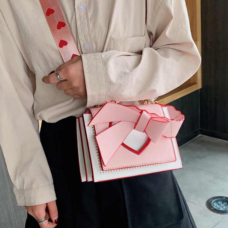 2019 Fashion Korea Wanita Tas Wanita Mini Tas Jinjing Hati Kulit Tas Bahu Cross Tubuh Tas Carteras Y Bolsos De mujer