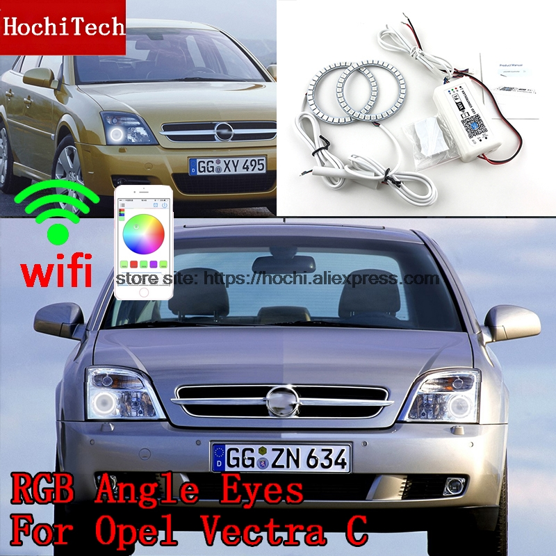 HochiTech Excellent RGB Multi-Color halo rings kit car styling for Opel Vectra C 2002-2004 angel eyes wifi remote control hochitech excellent rgb multi color halo rings kit car styling for volkswagen vw golf 5 mk5 03 09 angel eyes wifi remote control