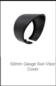 52mm Gauge Cap Sun Visor Cover Surround Protector Gauge Pod Light Shield Hood