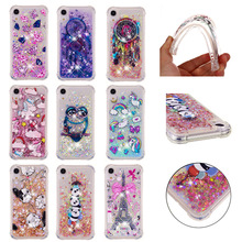LUCKBUY Soft TPU case For iPhone X 6 7 8 9 6S Plus 5 5SE SE Touch New 2018 Giraffe OWL Liquid Glitter Quicksand Case