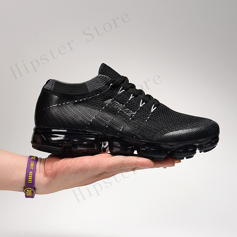 Women Sneakers Men Air Vapormax_2.0 Shoes High Quality Air Cushion Shoes Outdoor Athletic Sports Sneakers White Black