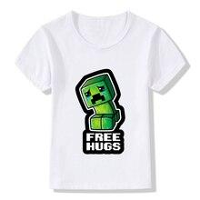 My World Popular Cotton kid T-shirt Kawaii zombie Cartoon T Shirts Short Sleeve Boys Girls Top Costume Clothing,KTP5195
