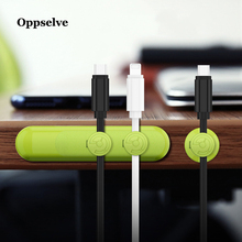 Oppselve Magnetic Cable Clip For Mobile Phone USB Data Organizer Charger Holder Desktop Winder