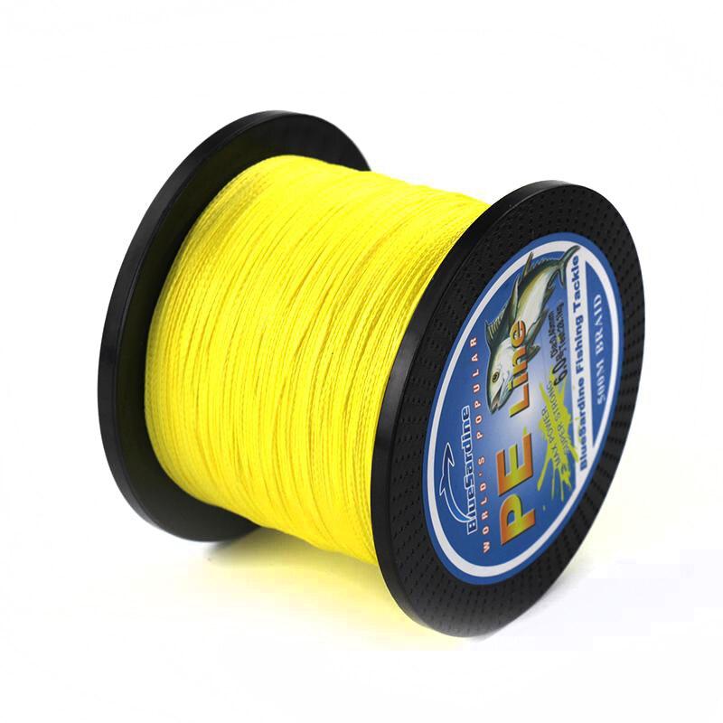 BlueSardine 500M Örgülü Sarı Balıqçılıq Xətti Multifilament - Balıqçılıq - Fotoqrafiya 4