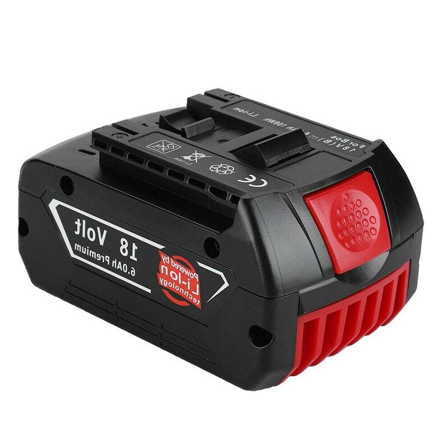 GTF <font><b>18V</b></font> 6000mAh Power Tools <font><b>Battery</b></font> For <font><b>Bosch</b></font> Lithium Rechargeable <font><b>Batteries</b></font> Cordless for <font><b>Bosch</b></font> Drill BAT609 BAT618 JSH180 image
