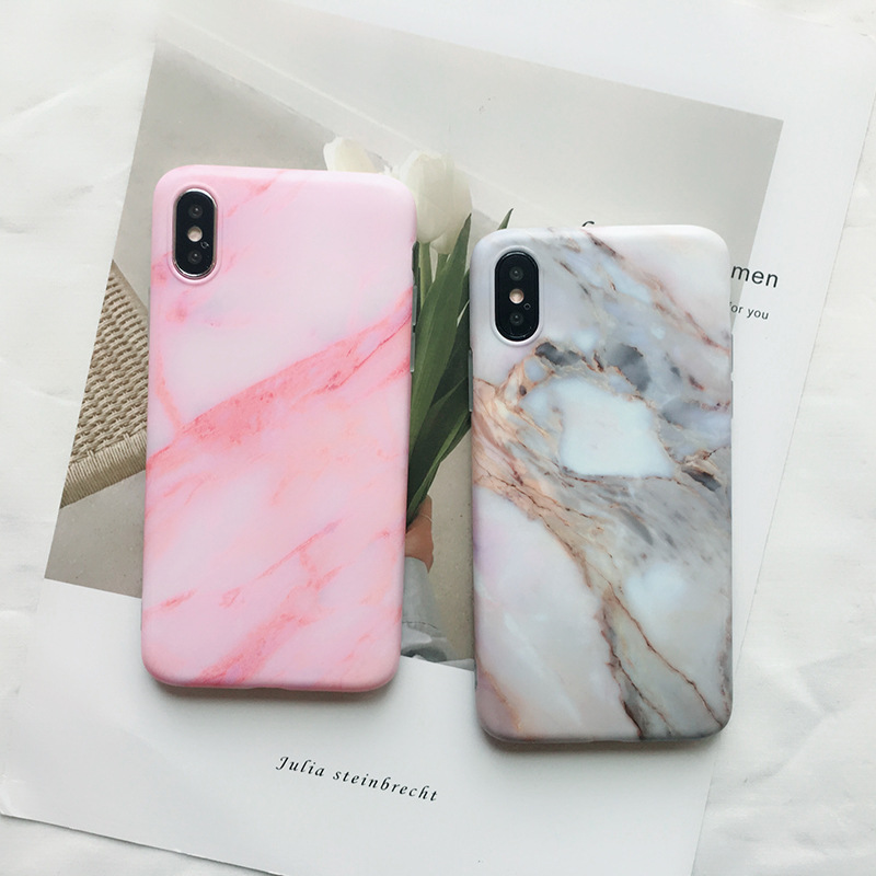 half off 989cd d7269 US $1.99 20% OFF For iphone X XS XR XSMAX case Marble Simple TPU Case for  iphone 8 8 Plus 7 7Plus 6 6s plus Scrub Marble Silicone soft Cover case-in  ...
