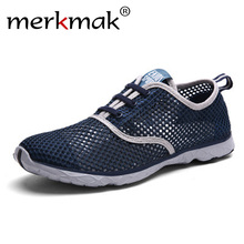 Купить с кэшбэком 2019 Men Shoes Summer Sneakers Breathable Casual Shoes Couple Lover Fashion Slip On Mens Mesh Flats Shoe Big Size Drop Shipping
