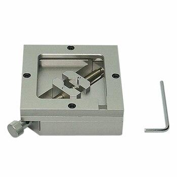 цена на 80MM 90MM Silver BGA Reballing Station Stencils Template Holder Foxture Jig For PCB Chip Soldering Rework Repair