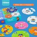 Двусторонняя бумажная головоломка Mideer для детей  игрушки who am I game puzzle  Обучающие профессиональные персонажи  развивающие игрушки