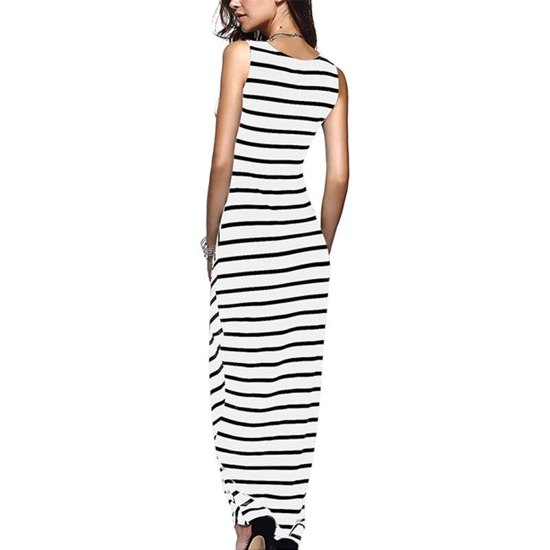 0892d1f4f4c TIGENA Women Summer Dress 2018 Summer Sundress Female Striped Long Maxi  Dress Tunic Boho Beach Dress Robe Femme vestidos-in Dresses from Women s  Clothing ...