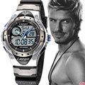 2016 fashion Style Quartz Digital Camo Watch Men LED Dual Time Man Sports Watches Men Luxury S Shock Military Army Reloj Hombre