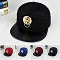 2016 Novo de Alta Qualidade Ocasional Logotipo Do Projeto Do Crânio Do Metal Padrão de Beisebol Cap Chapéus Hip Hop Snapback Caps Chapéu Osso Para Homens Mulheres W297