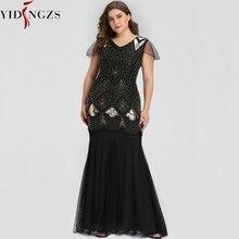 Robe de soirée longue, couleur grande taille, noire, paillettes dorées, perles, robe élégante, robes doccasion, GA81