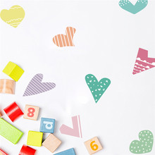 Hot Cartoon Love Colorful Wall Sticker for Kid Baby Room Home Decor Living Room PVC Self-adhesive Waterproof Removable Art Decal live love waterproof removable wall sticker for home decor