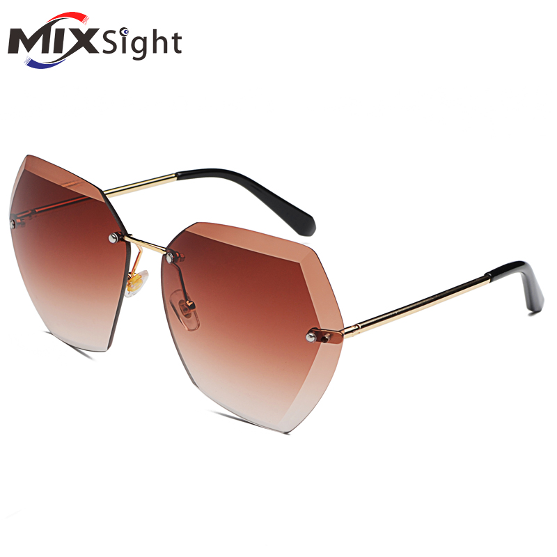 Oversized Glasses Square Rimless Safety Goggles Diamond Cutting Lens Brand Designer Fashion Shades Sun Glasses feidu 2015 brand designer high quality metal sunglasses women men mirror coating лен sun glasses unisex gafas de sol
