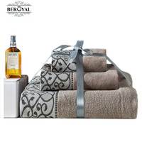 Luxury Personalized Custom Embroidery 100 Cotton Bath Towel Face Towel Hand Towel 3pc Towes Suit Gift