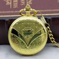 Antique Luxury Hand Wind Steampunk Skeleton Mechanical Pocket Watches Golden Men Necklace Pocket & Fob Watch Chain PJX1322