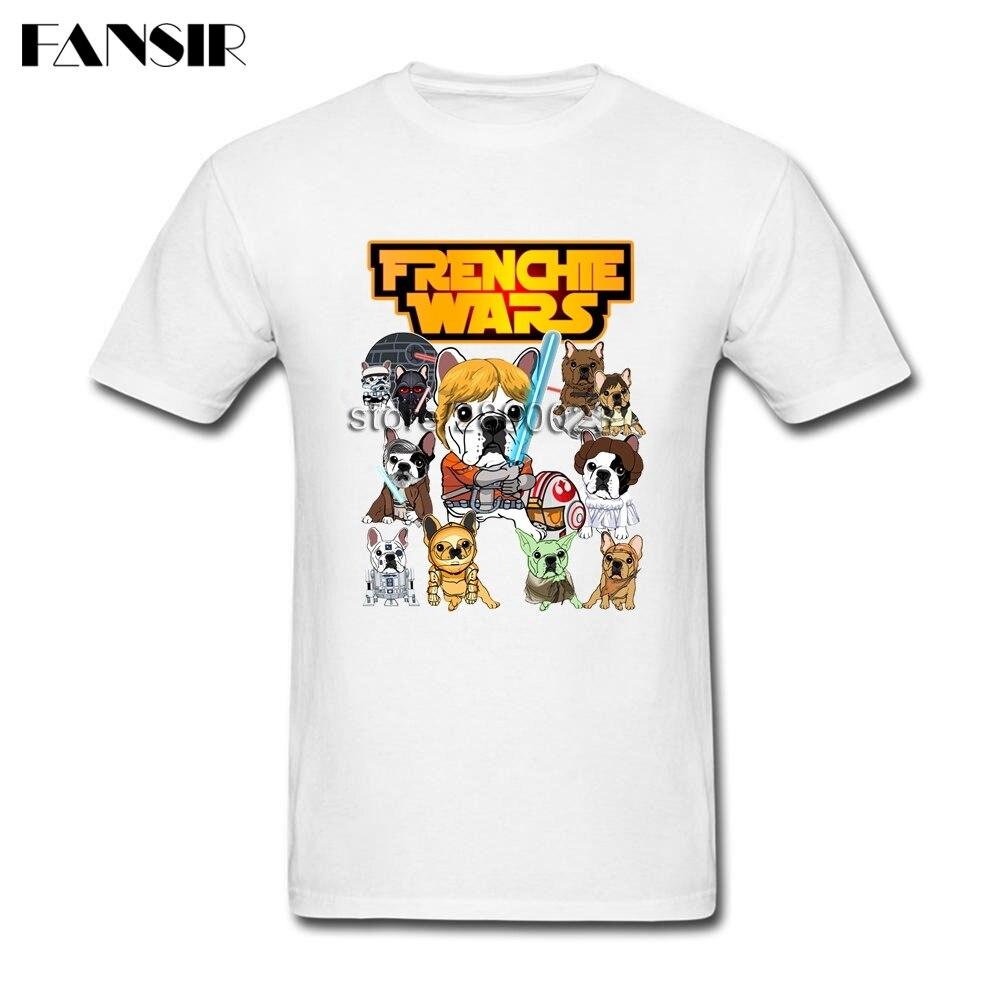 Plus Size Bulldog Frenchie Wars Dog Awesome Tshirt Men Boy White Short Sleeve Custom Men T-shirt Group Brand Clothing