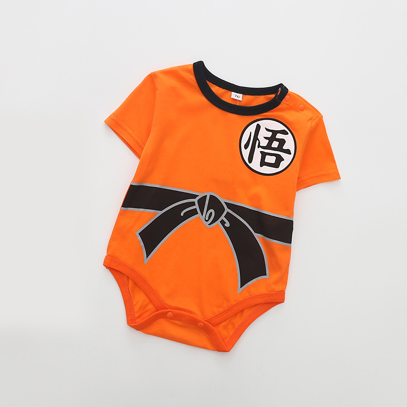 Summer Cotton Baby Rompers Toddler Jumpsuit Spring Baby Girls Boys Newborn Baby Short Sleeve Clothing Dragon Ball Z Goku Infant
