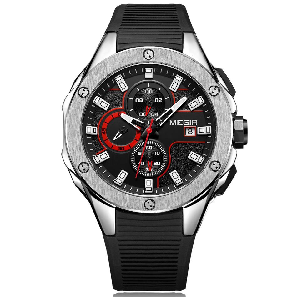 Men's Chronograph  Waterproof Casual watch steel black