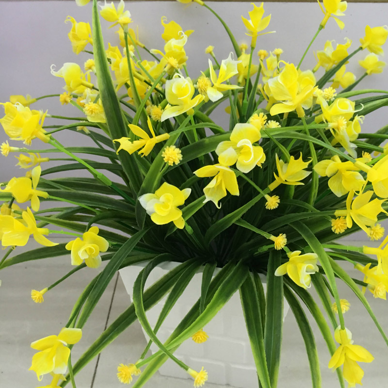 21 Heads Artificial Butterfly Orchid Flowers Chrysanthemum Fake ...