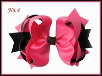Free Shipping 12Pc Grosgrain Ribbon 8 Inch Ring With Clip Baby Girl Hair Accessories Retail Wholesale