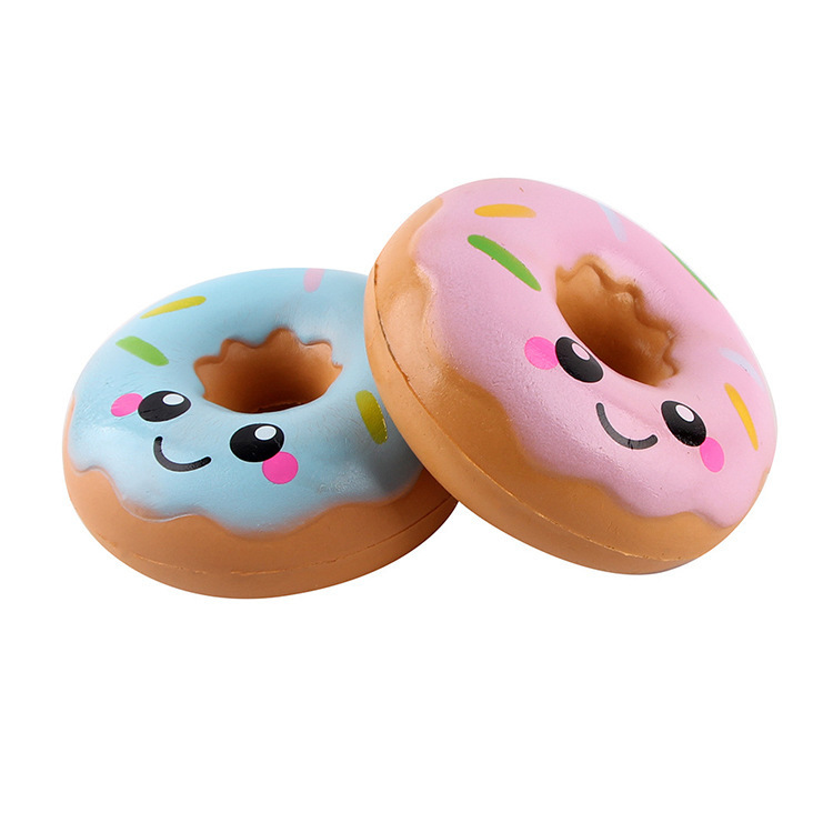 Lovely Doughnut Cream Scented Squishy Slow Rising Squeeze Anti Stress Soft Toys Funny Gadgets Kawaii Squishies