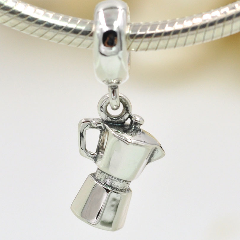 1d4b5e76b New Arrival Authentic 925 Sterling Silver Charms Coffee Lovers Dangle Charm  Pendant Fits Pandora Charms Bracelet DIY Jewelry-in Charms from Jewelry ...