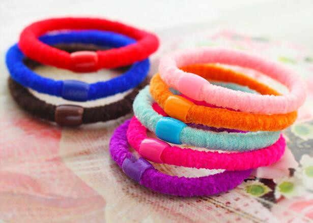 Accessoires de cheveux pour femmes multicolores élastiques bandes de cheveux en caoutchouc belles filles cordes prêle noisette couleur bonbon corde à cheveux 1 pièces