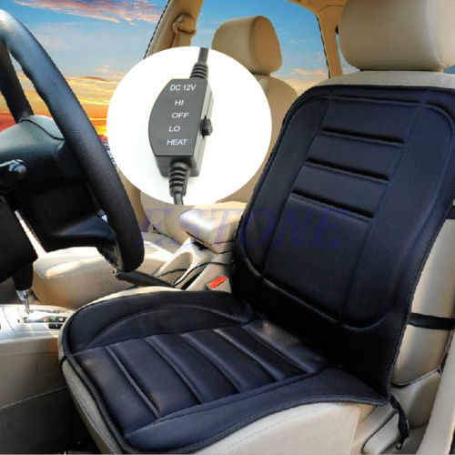 Car Heated Seat Cushion Hot Cover Auto 12V Heat Heating Warmer Pad winter Black Car winter car