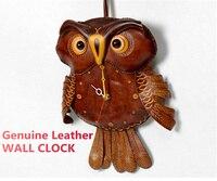 Новинка 2019 года пояса из натуральной кожи большой сова настенные часы современный дизайн домашний декор Cuckoo птица часы Дети подарок идеи