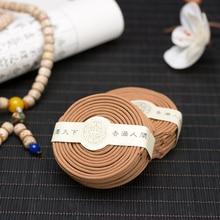 100% India Laoshan Sandalwood Incense Coils Natural Encens Spirale Aromatic Promote Meditation Buddhist Incense Sticks Zen