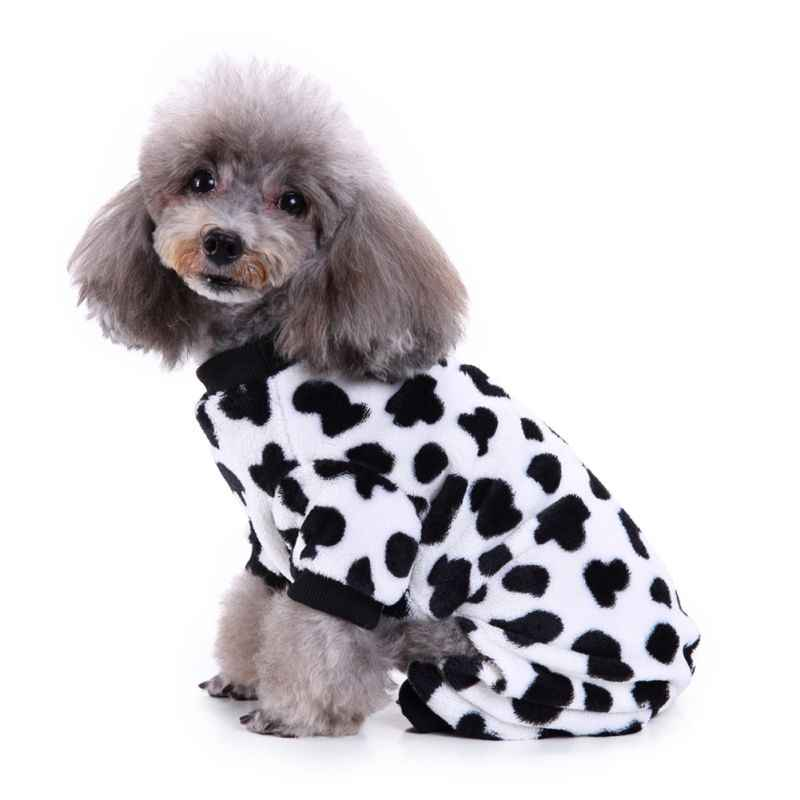 Camouflage and Cow Pattern Puppy Dog Clothes Pet Dog Warm Pajamas Winter Four Foot Fleece Pet Clothes Costume Pet Cloth Supplies