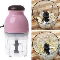 Mini Electric Meat Grinder Food Processor Vegetable Fruit Blender Chopper 600ml