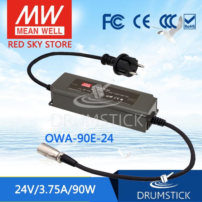 цена на MEAN WELL OWA-90E-24 24V 3.75A meanwell OWA-90E 24V 90W Single Output Moistureproof Adaptor Euro Type