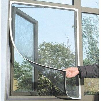 Cinta de ajuste para cortinas en la puerta mosquitera Ventana de verano mosquitera malla Protector de cortina Flyscreen