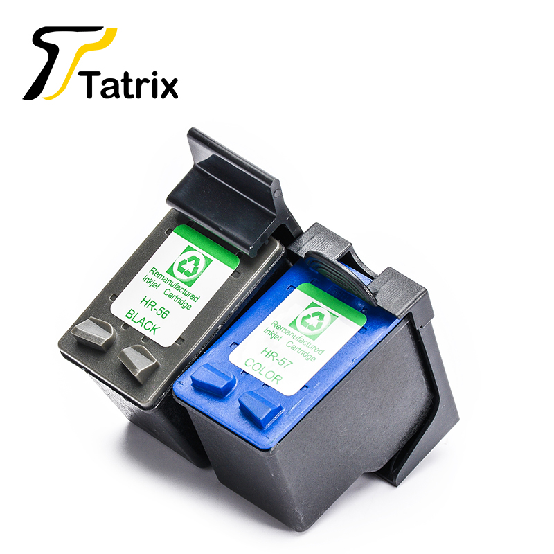 tatrix for hp 56 57 ink cartridge for hp deskjet 450 5150 5550 5552 5650 9650 photosmart 7150. Black Bedroom Furniture Sets. Home Design Ideas