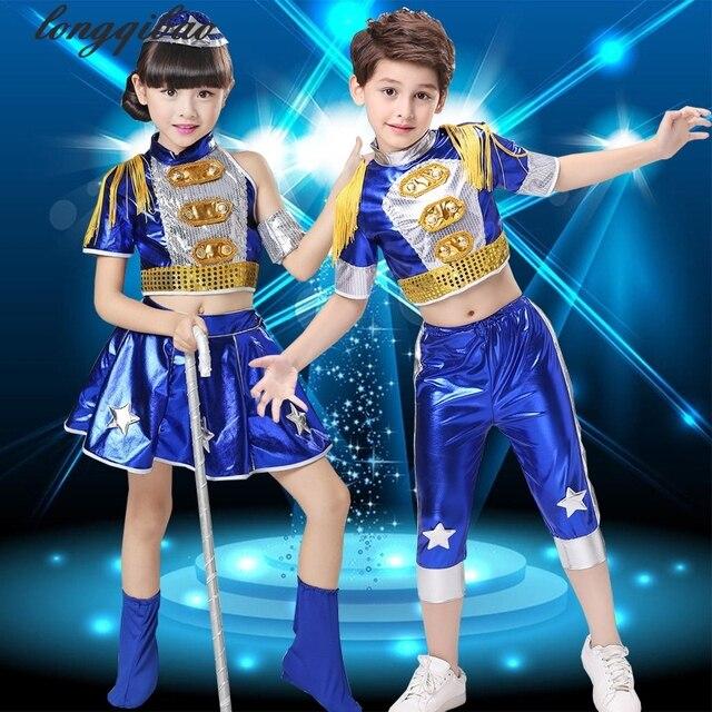Los nuevos niños y niñas calle danza jazz danza moderna trajes de baile de  hip- c4813a6235e