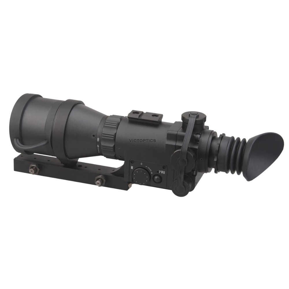Vector Optics 4x60 Monocular Night Vision Scope Riflescope for Hunting Night Shooting With 9 Levels illumination vector optics siegfried 3 12x50 ffp tactical 34mm huting riflescope 1 click 1cm adjust fit night vision free shipping scope
