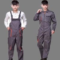 Work Overalls Men Women Protective Coverall Repairman Strap Jumpsuits Trousers Working Uniforms Plus Size Sleeveless Coveralls